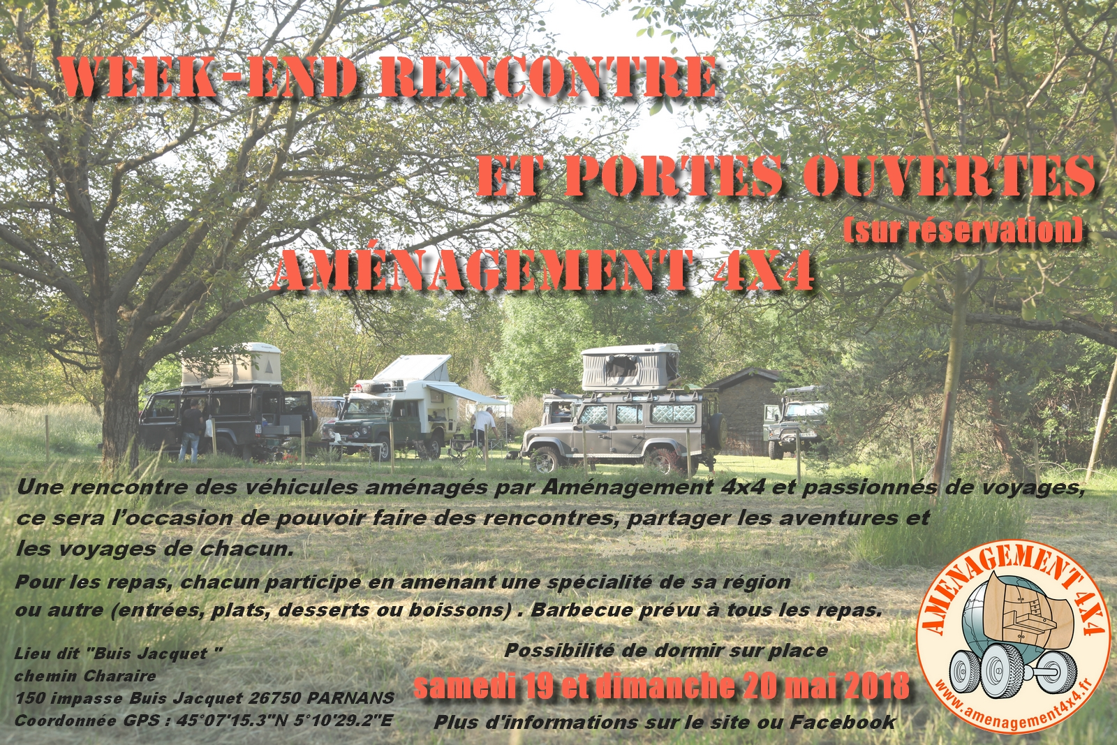 Week-end Amenagement 4x4