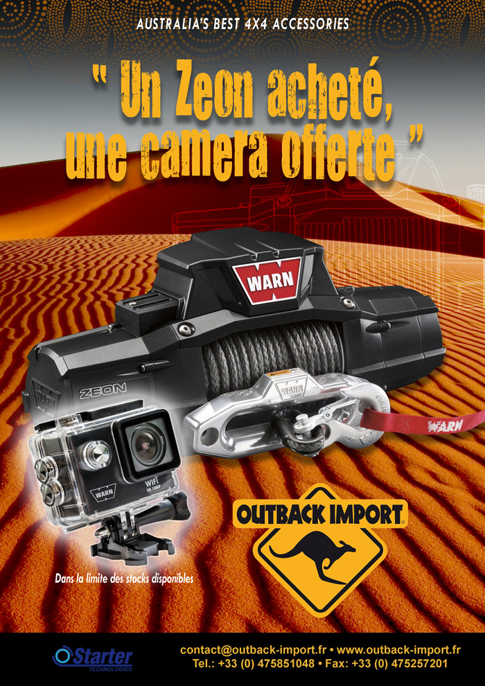 Promo Outback Import Warn Zeon