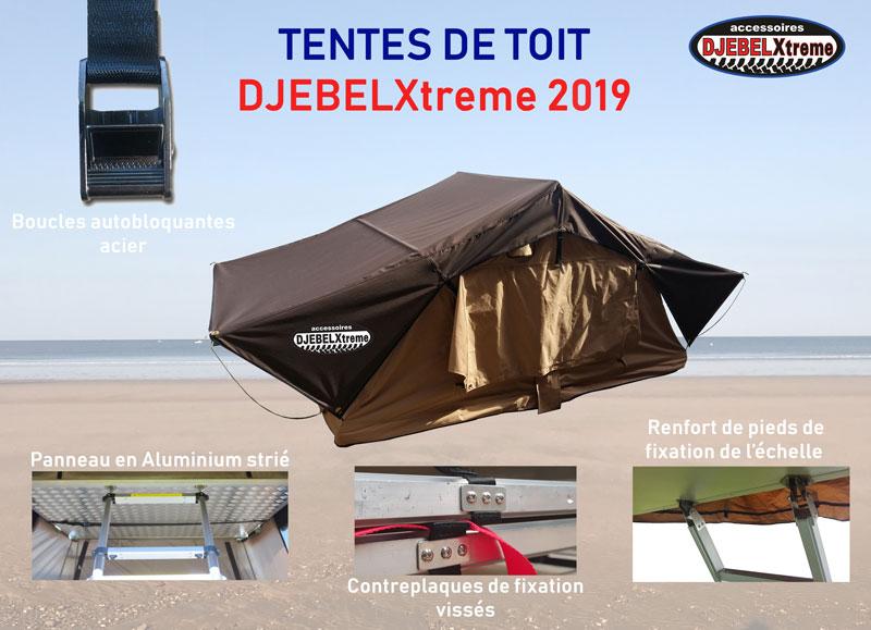 Nouvelles tentes de toit DjebelXtreme chez RLC Diffusion