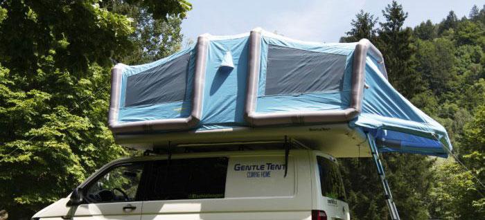 Une tente gonflable pour vos raids