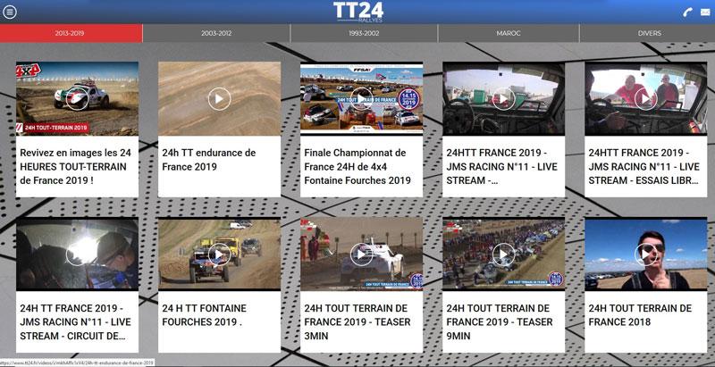 Plus de 174 vidéos des 24H TT de France