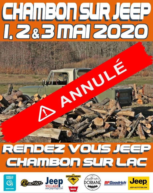 Chambon-sur-Jeep 2020 annulé