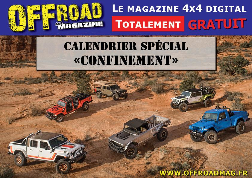 Calendrier spécial Confinement Offroad 4x4 Magazine