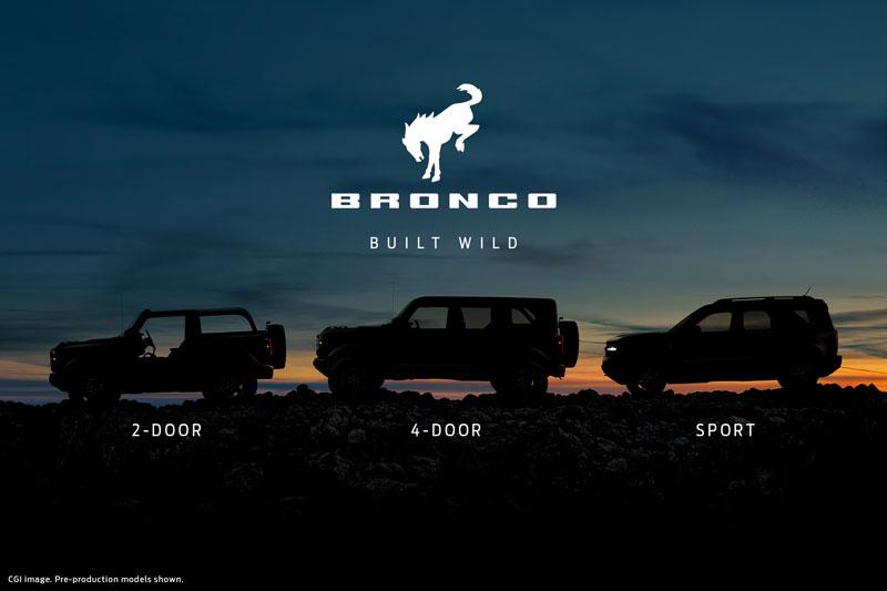 Ford dévoilera trois Bronco le 13 juillet