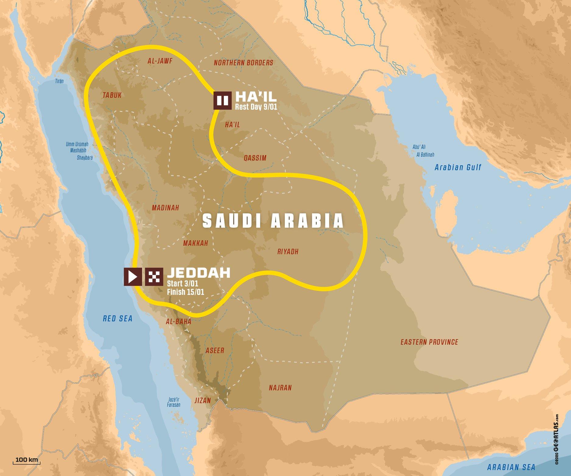Dakar Rallye : parcours et nouveautés 2021