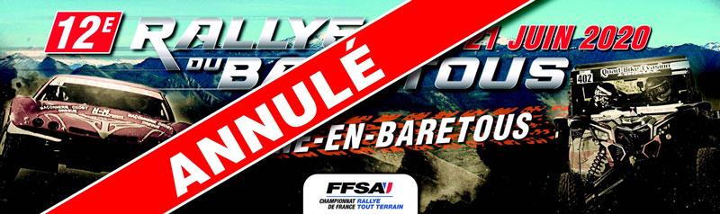 Le Rallye du Baretous 2020 annulé
