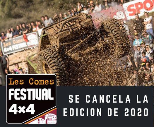 Les Comes 4×4 Festival 2020 annulé