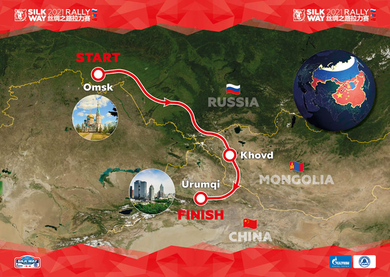 Silk Way Rally 2021 ; dates et parcours