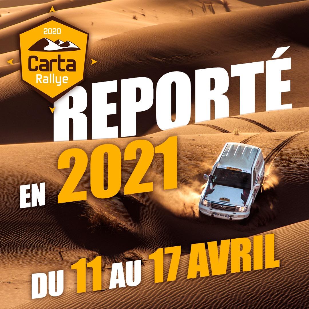Carta Rally 2020 reporté à 2021
