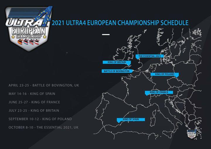 Ultra4 Europe : le calendrier 2021