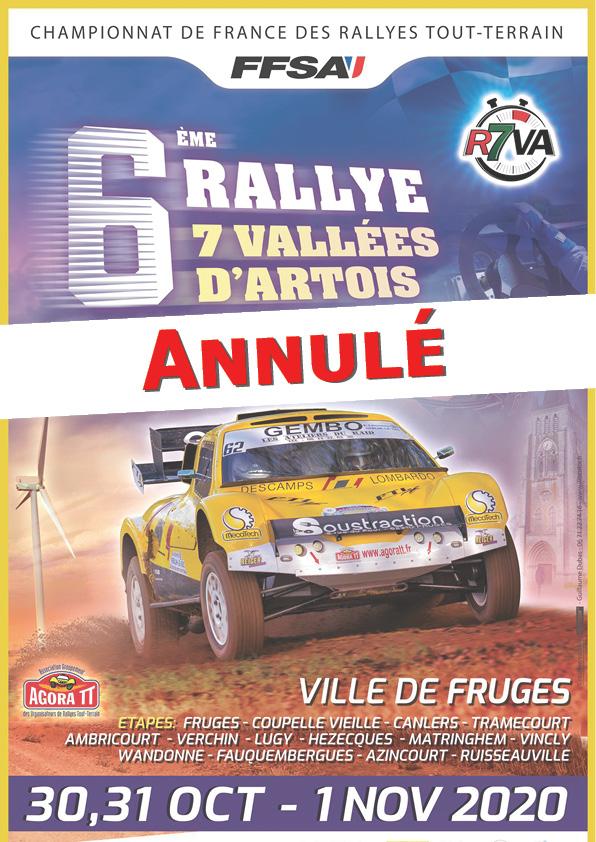 Le Rallye des 7 Vallées d'Artois annulé