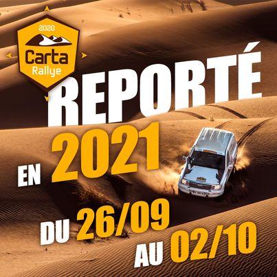 Le Carta Rallye 2021 reporté à septembre