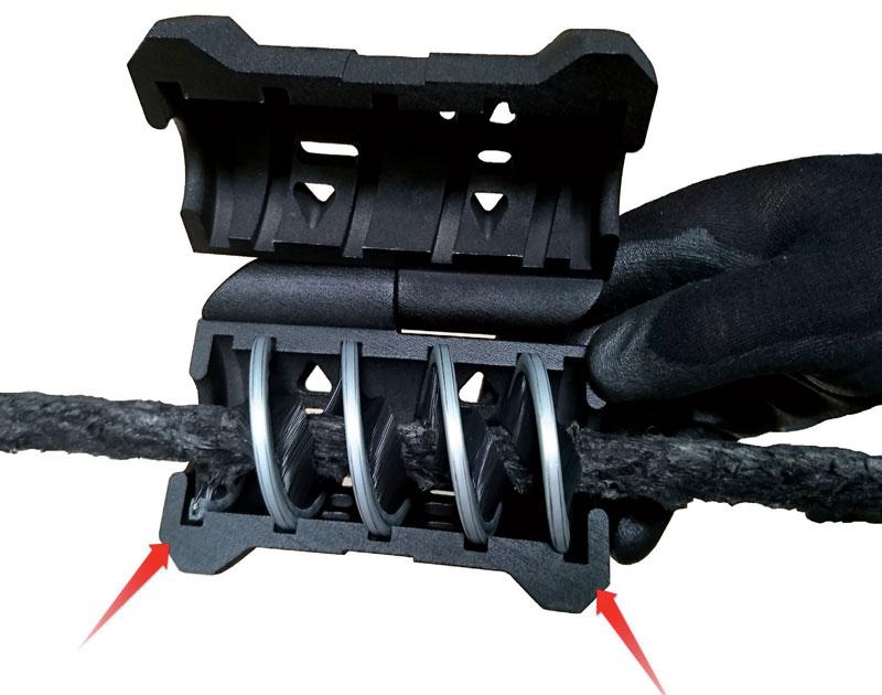 Un câble de treuil propre avec le Gripper