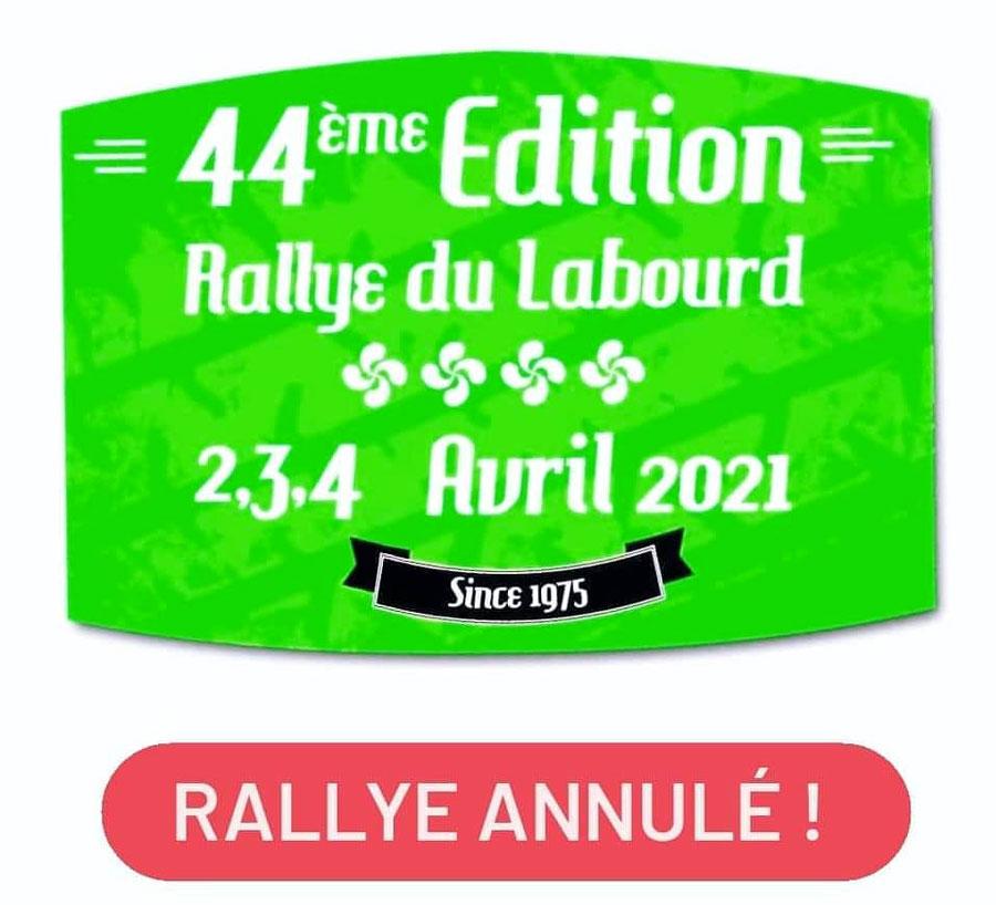 Le Rallye du Labourd 2021 annulé