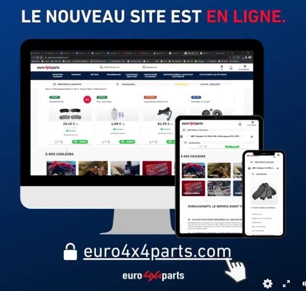 Euro4x4parts lance son nouveau site