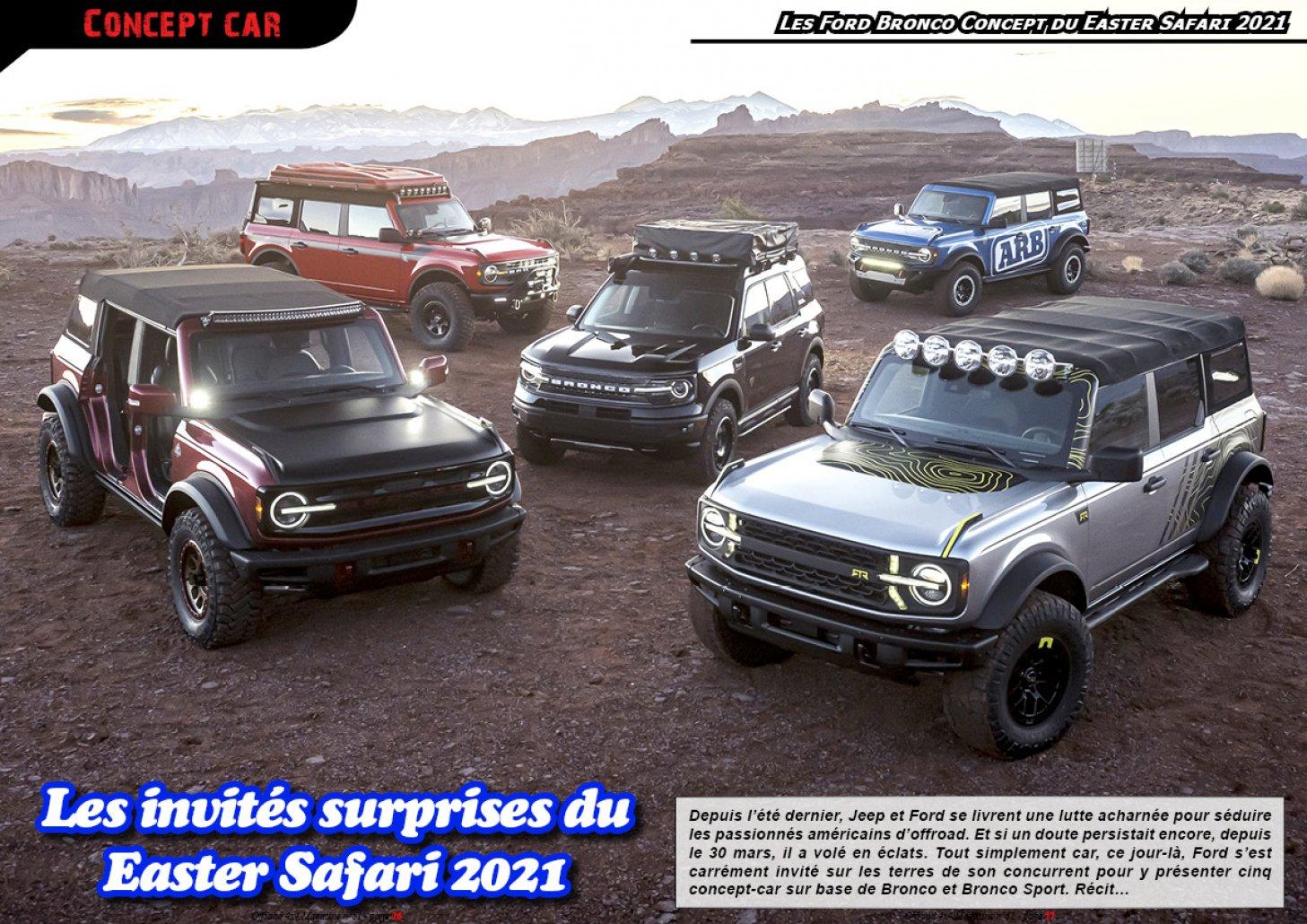 Les Ford Bronco du Easter Safari 2021