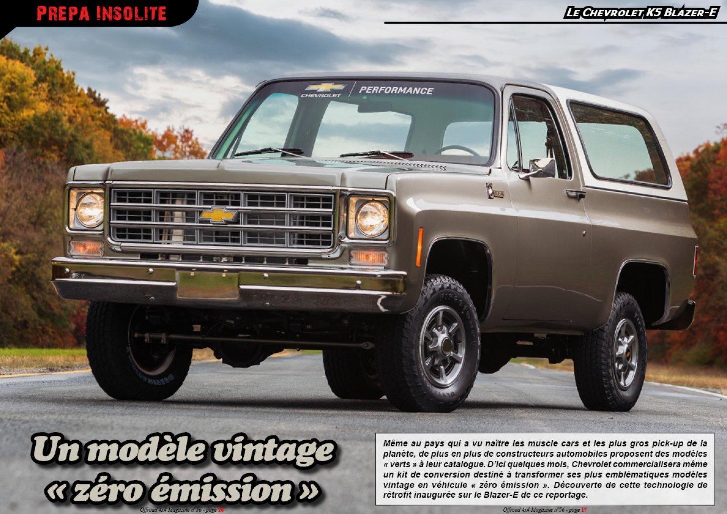 Le Chevrolet K5 Blazer-E