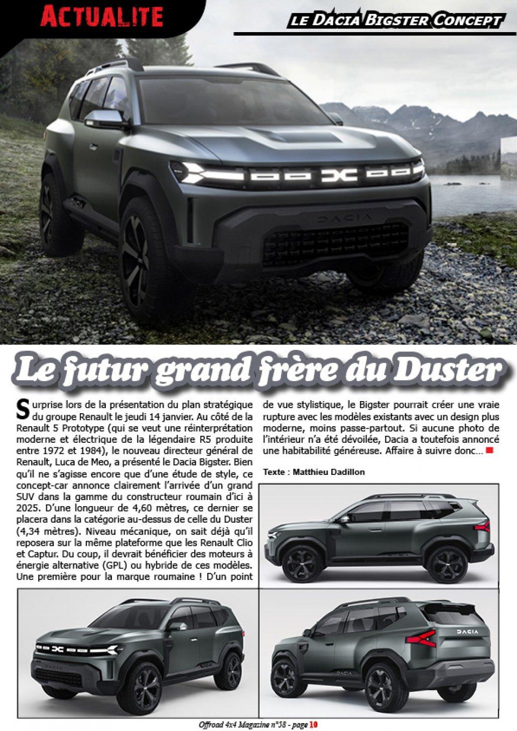 Le Dacia Bigster Concept