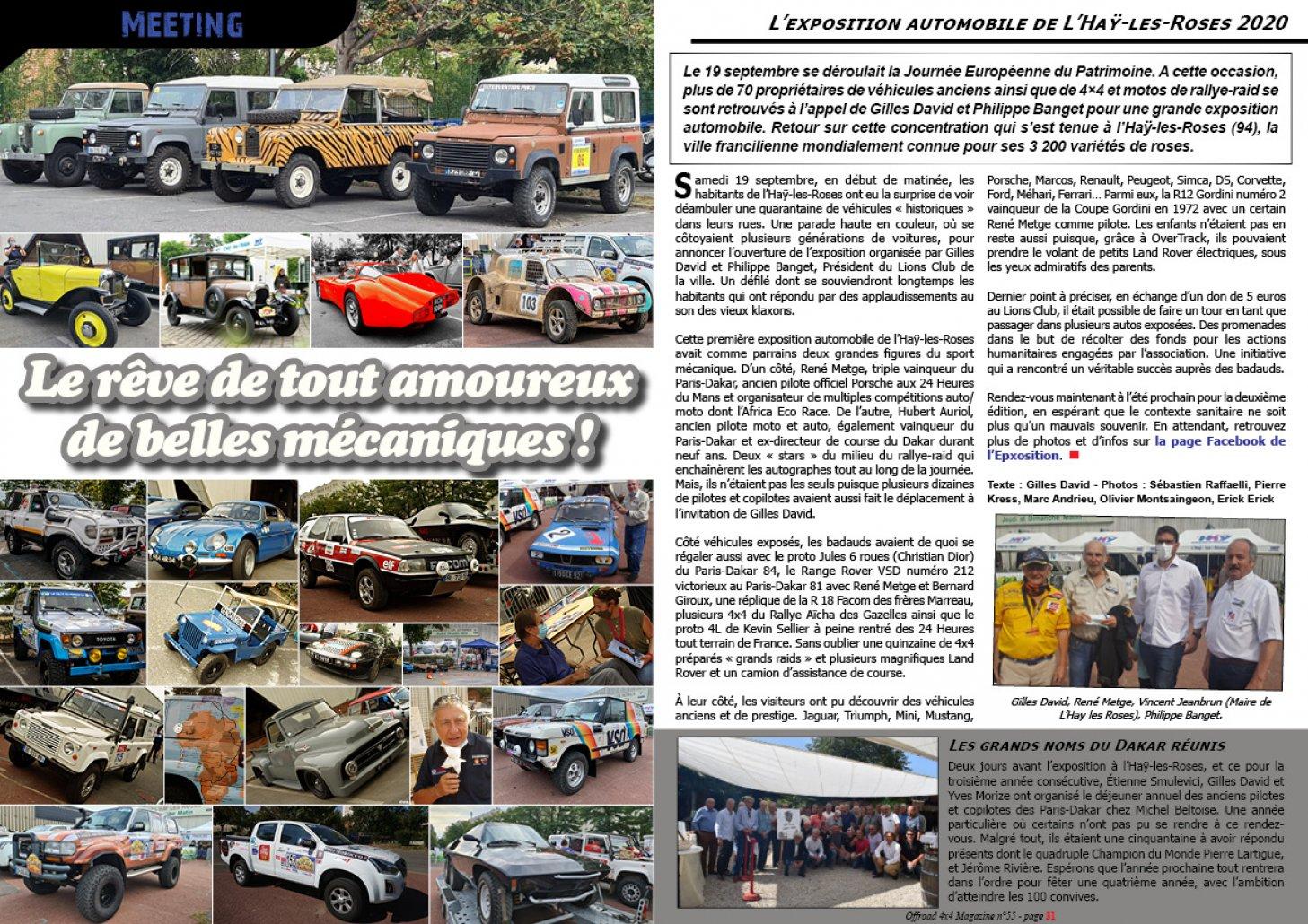'exposition auto de L'Haÿ-les-Roses 2020