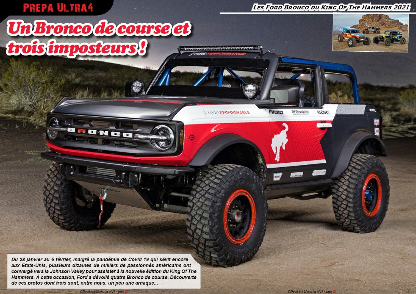 Les Ford Bronco du KOH 2021