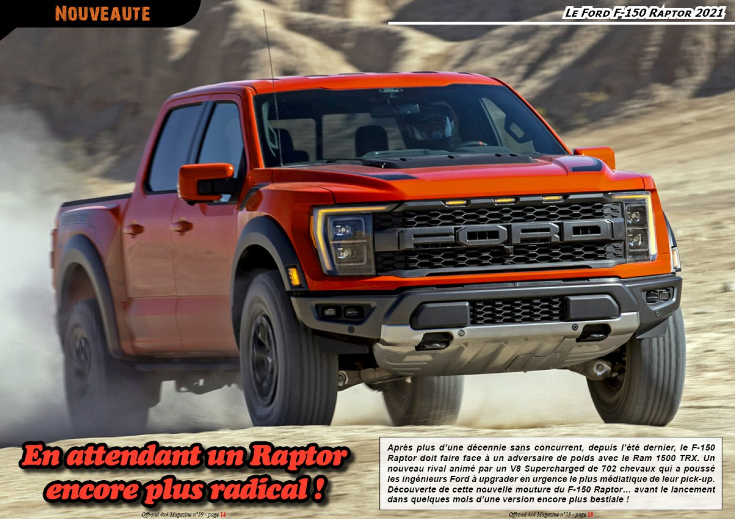 Le Ford F-150 Raptor 2021