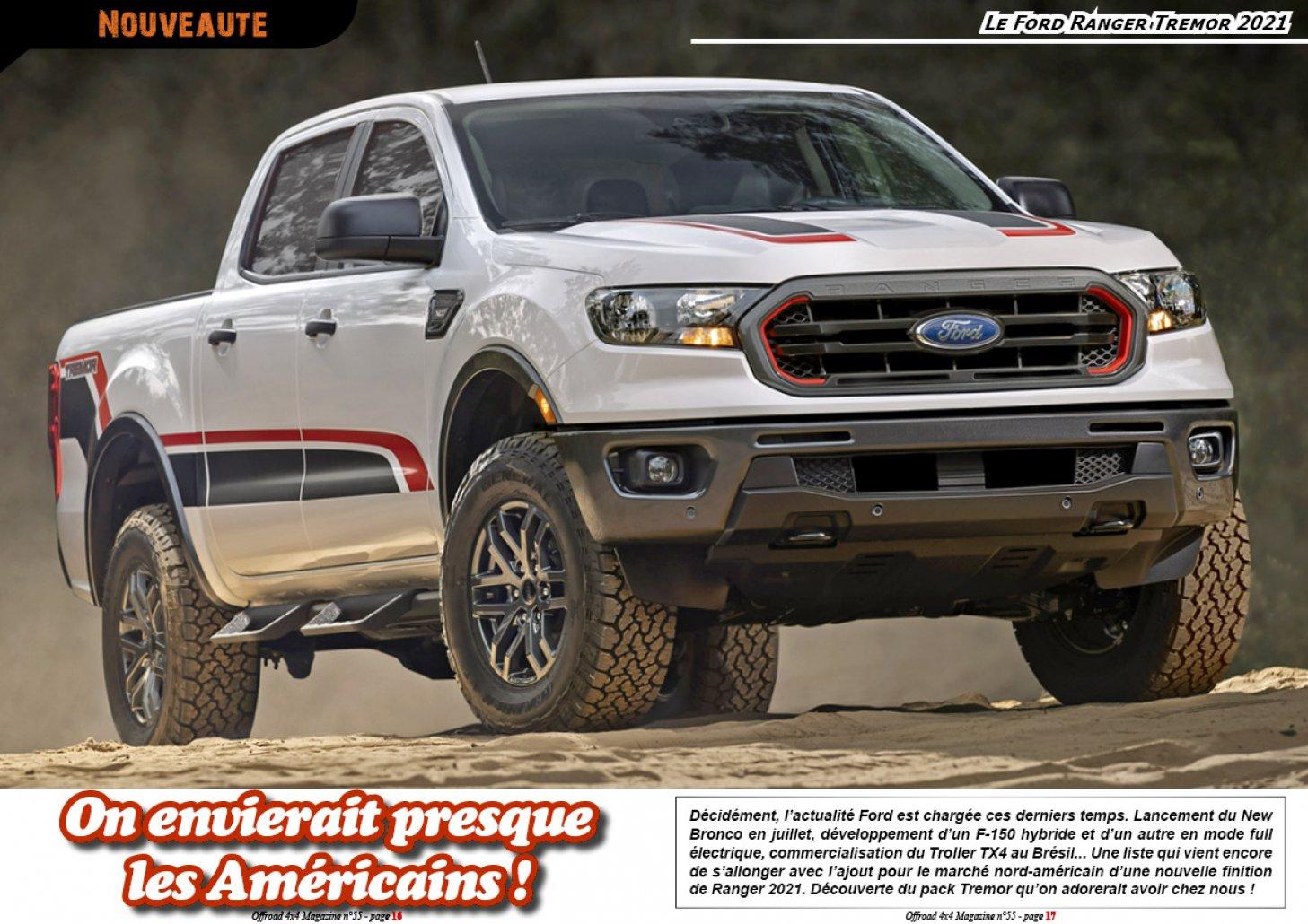 Le Ford Ranger Tremor 2021