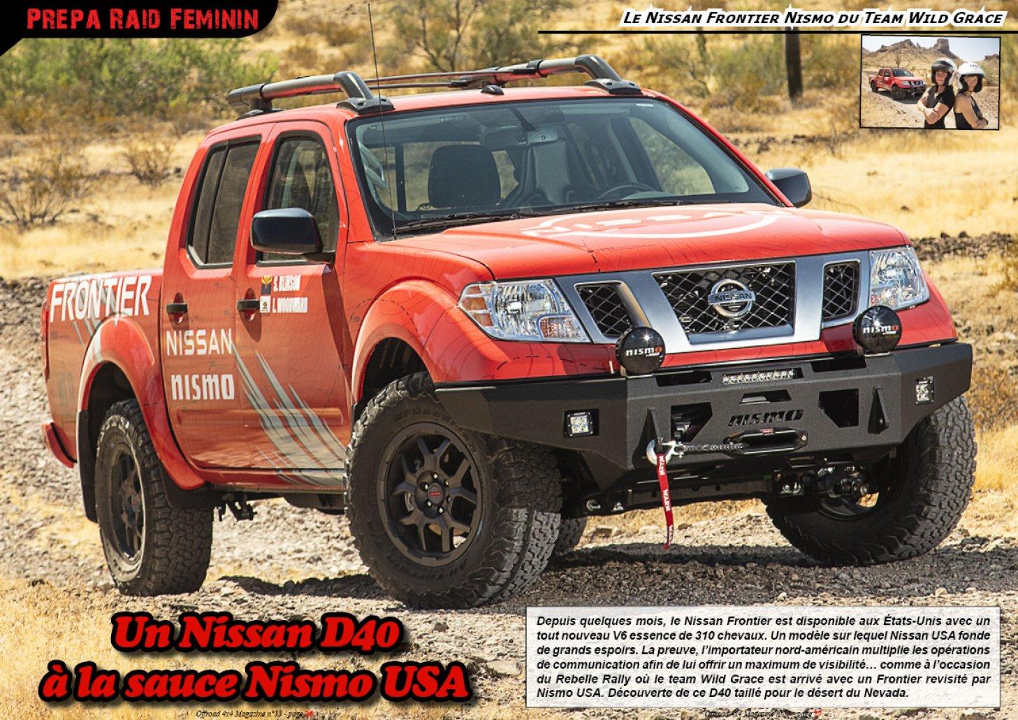 Le Nissan Frontier du Team Wild Grace