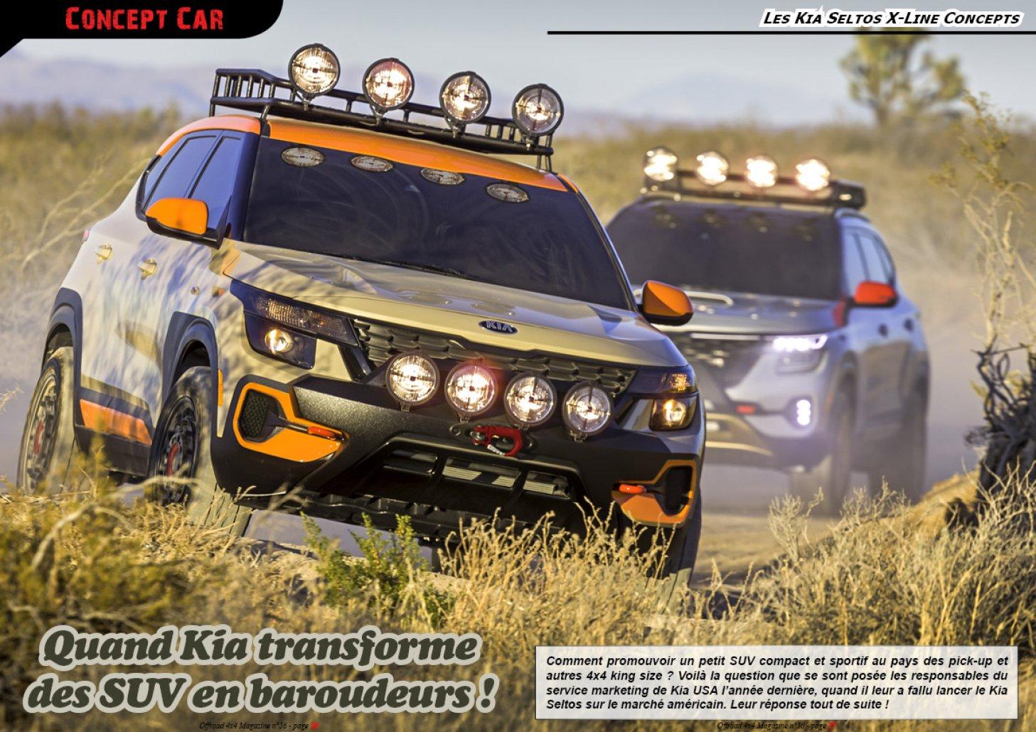 Les Kia Seltos X-Line Concepts