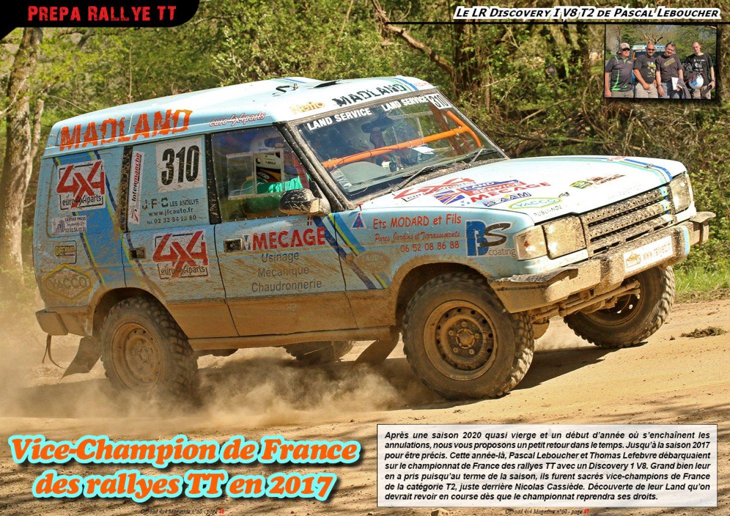 Le LR Discovery V8 T2 de Pascal Leboucher