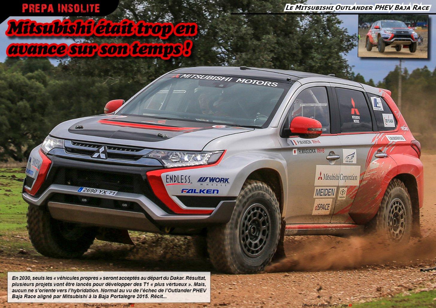 Le Mitsubishi Outlander PHEV Baja Race