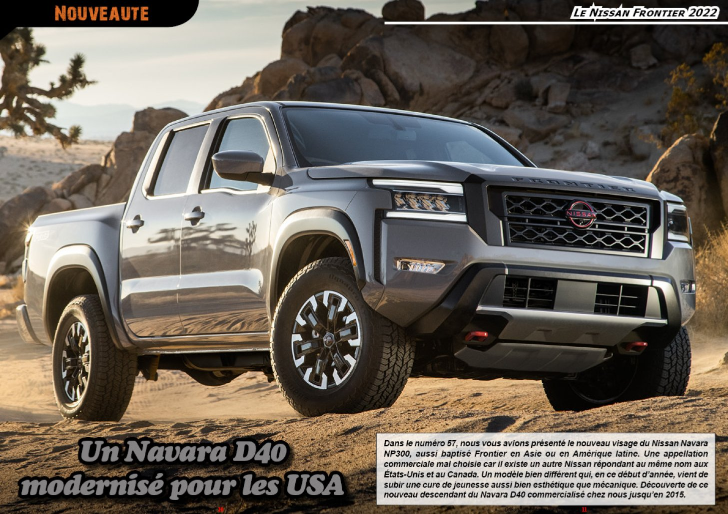 Le Nissan Frontier 2022