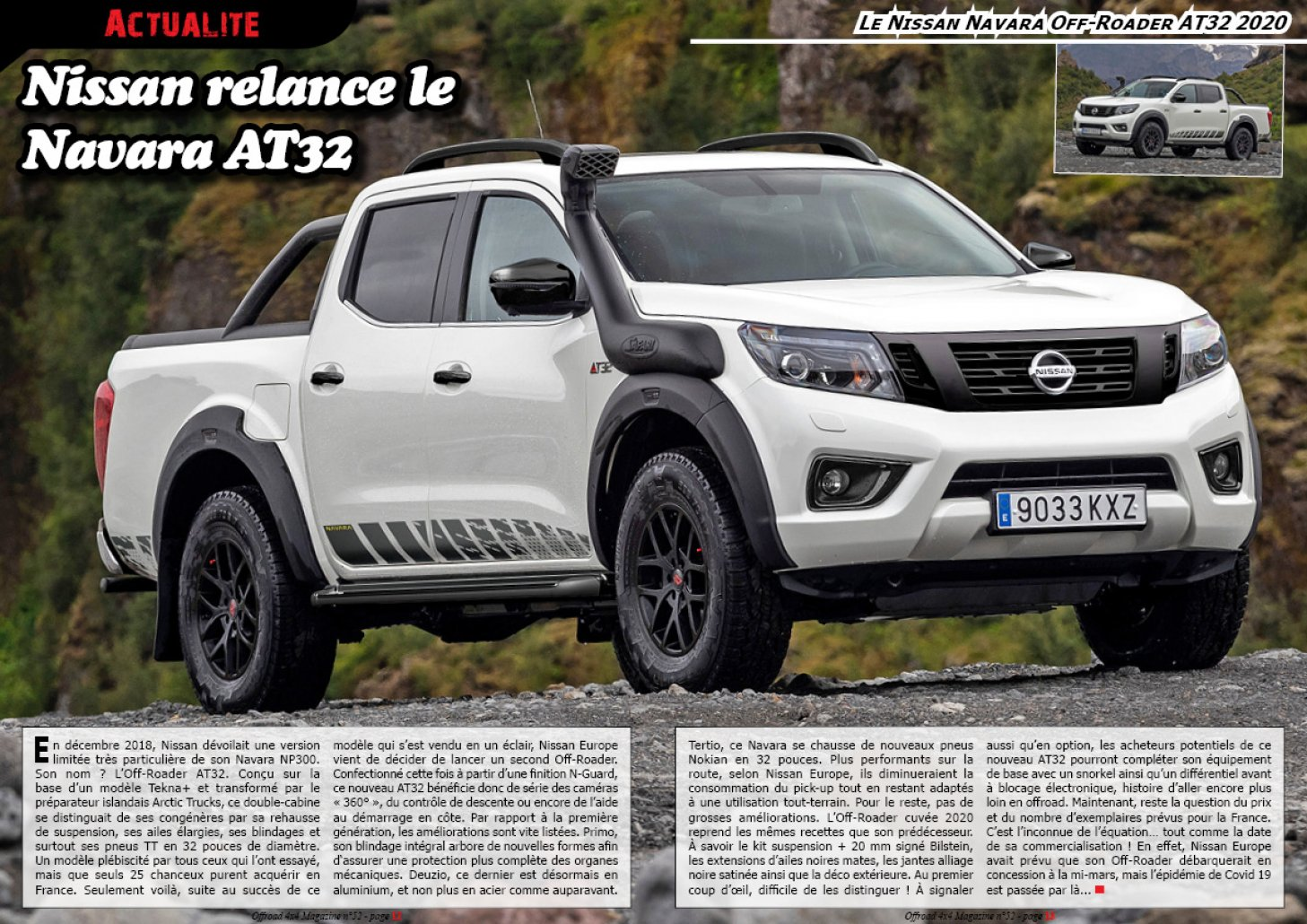 Le Nissan Navara Off-Roader AT32 2020