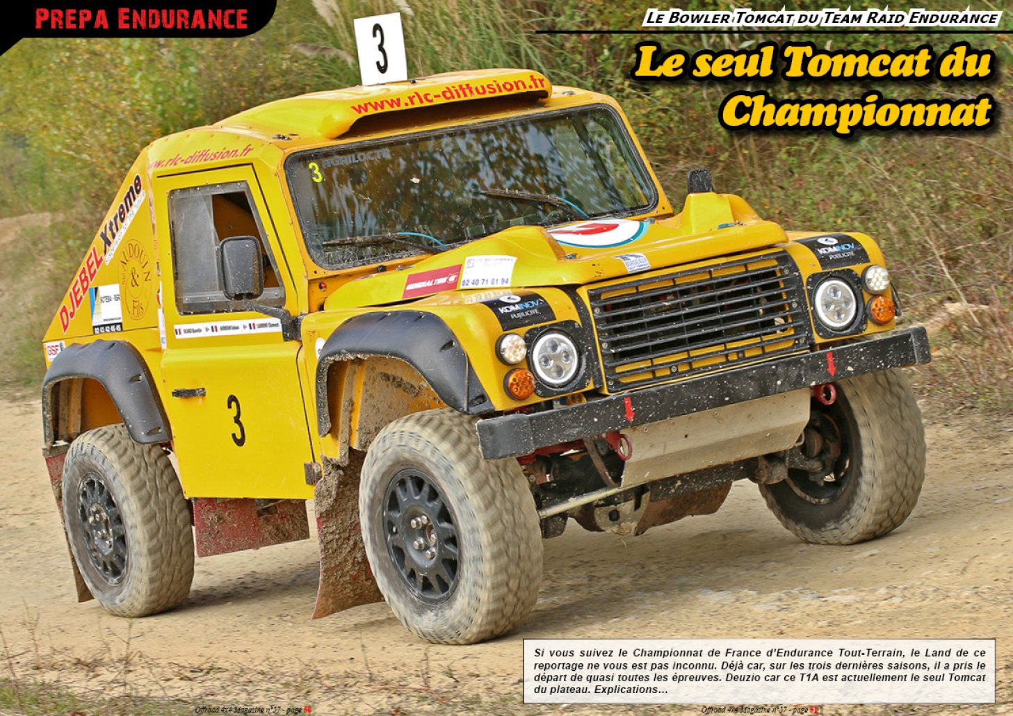 Le Bowler Tomcat du Team Raid Endurance