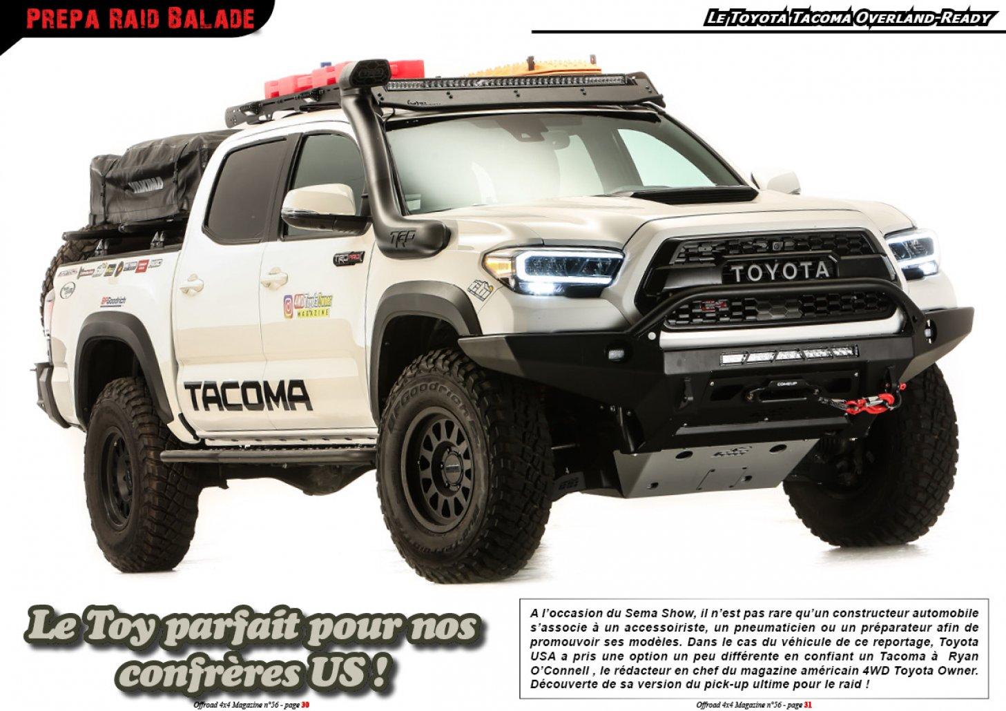 Le Toyota Tacoma Overland-Ready