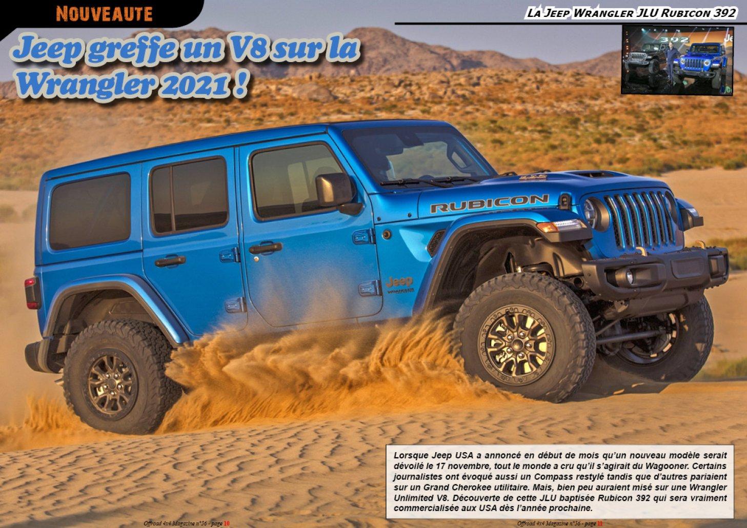 La Jeep Wrangler JLU Rubicon 392