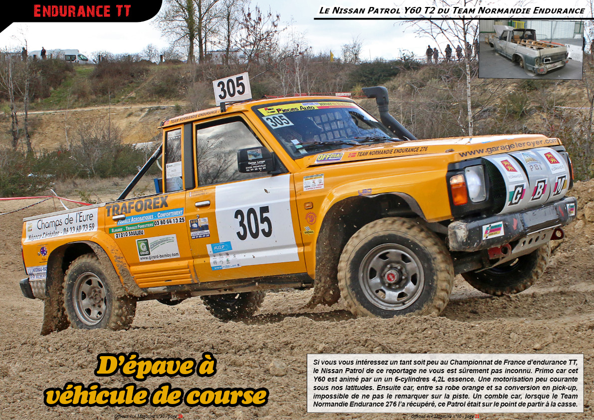 le NissanY60 du Team Normandie Endurance