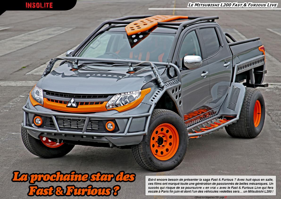 le Mitsubishi L200 Fast & Furious Live