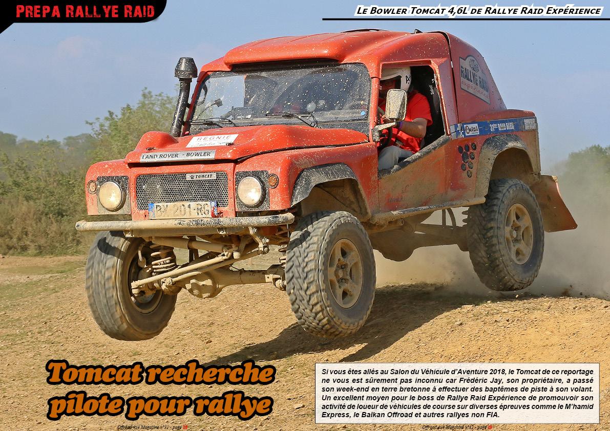 le Tomcat 4,6L de Rallye Raid Expérience