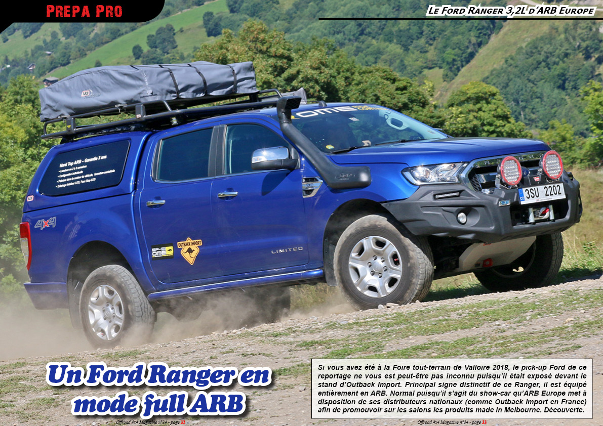 le Ford Ranger 3,2L d'ARB Europe