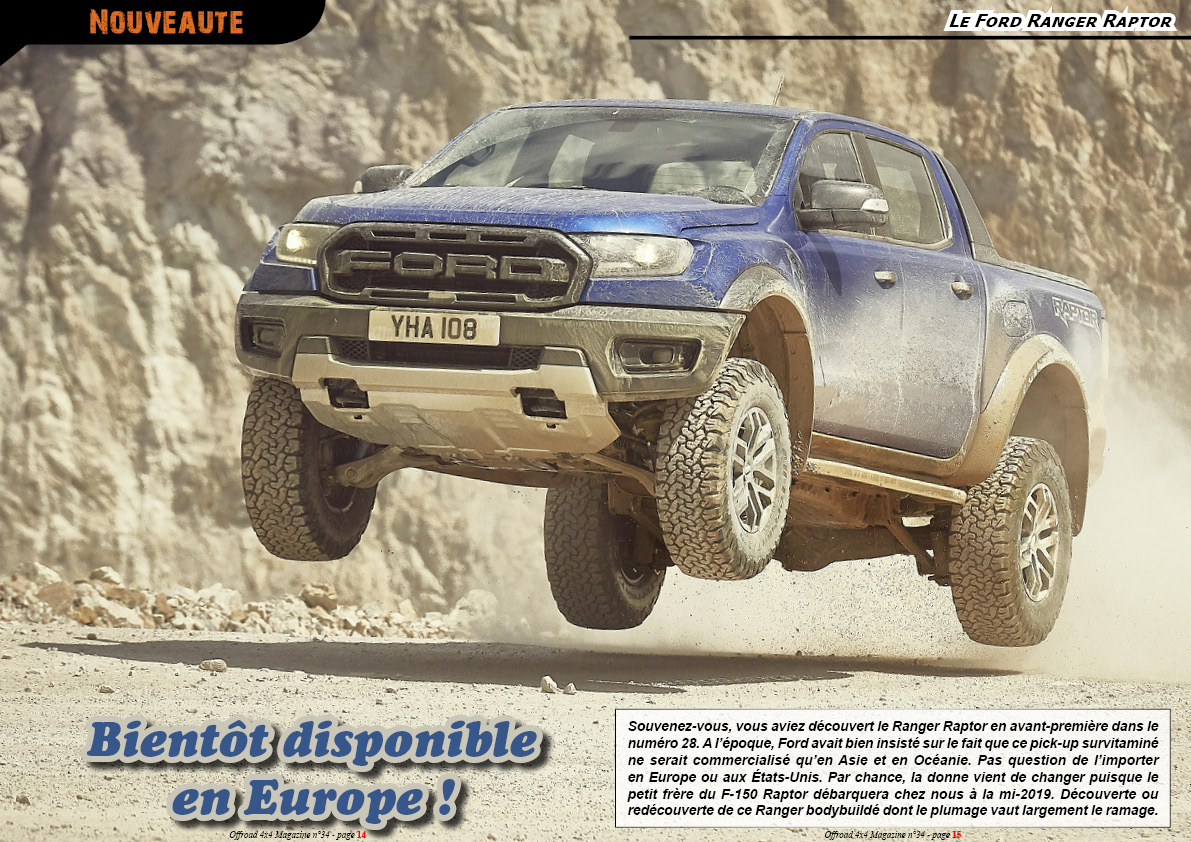 le Ford Ranger Raptor