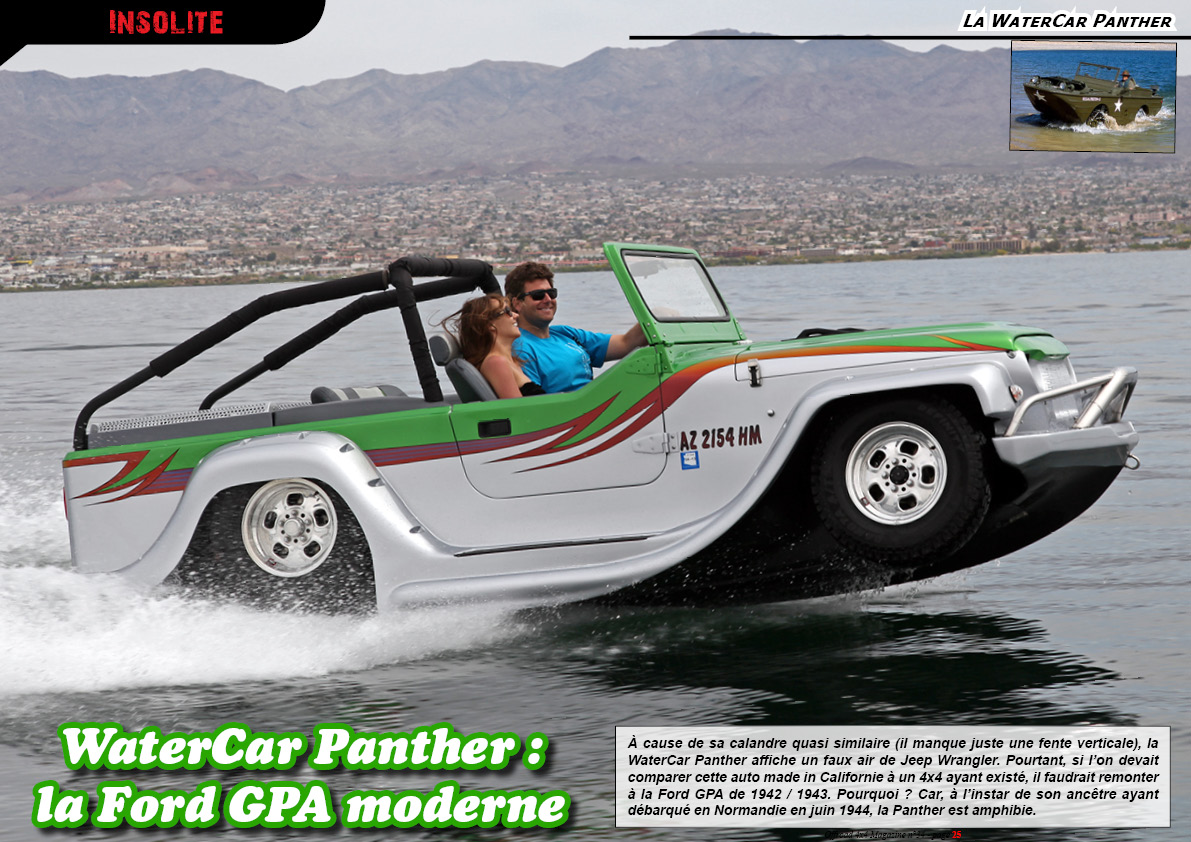 la WaterCar Panther