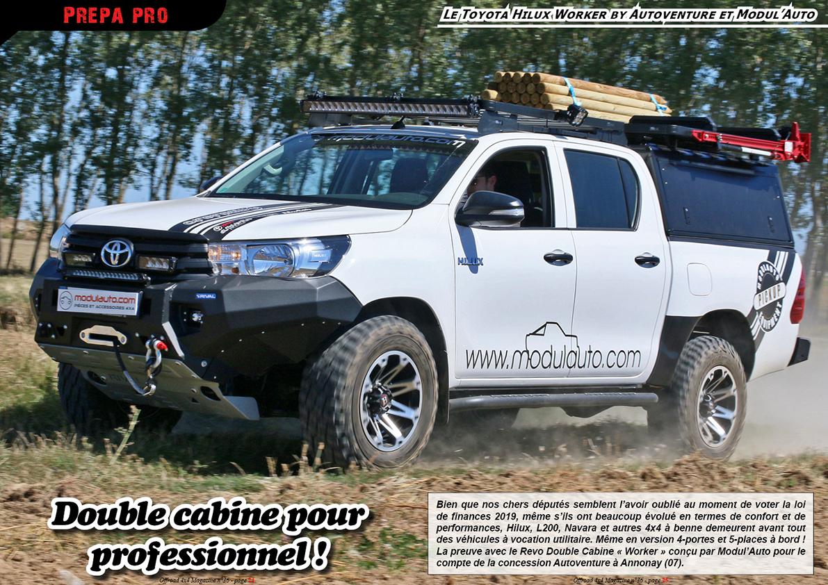 le Toyota HiluxWorker by Autoventure et Modul'Auto