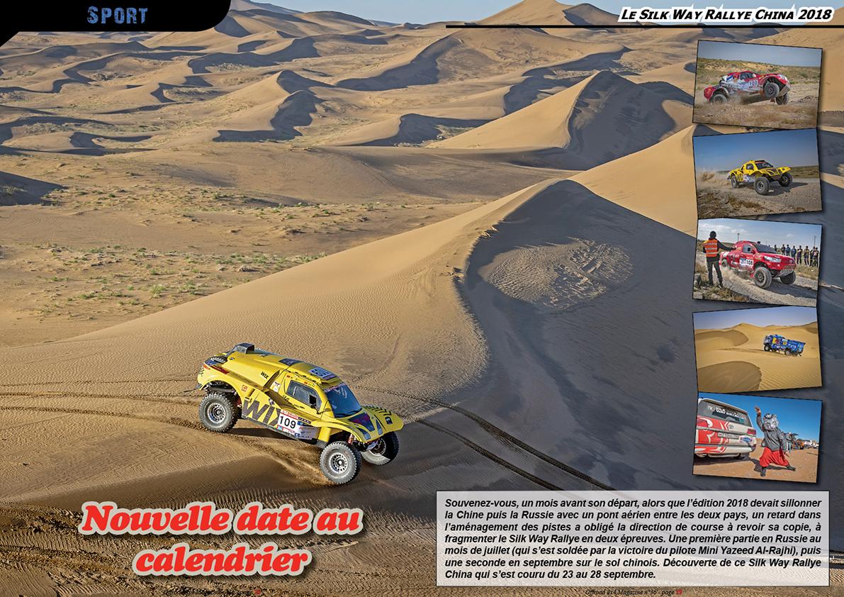 le Silk Way Rallye China 2018