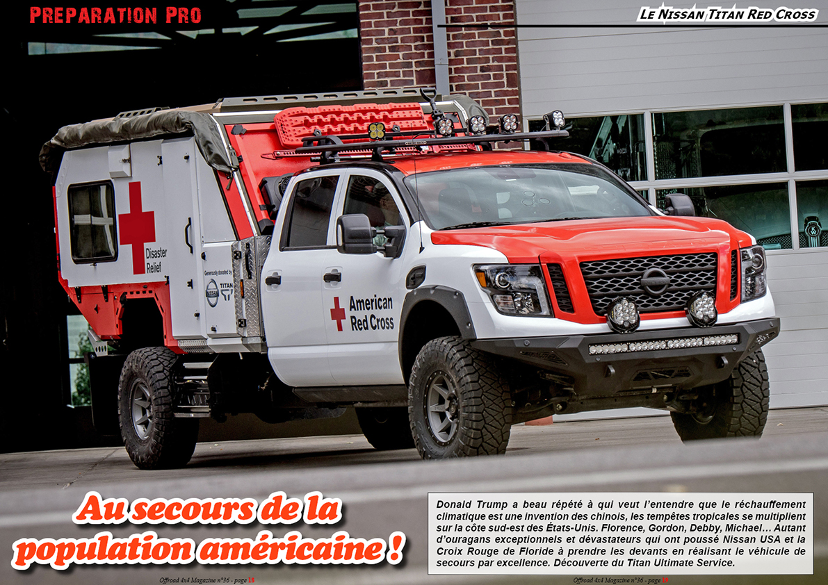 le Nissan Titan Red Cross