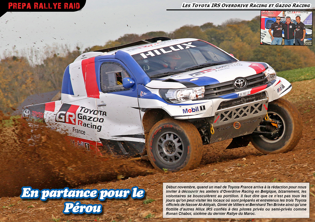 les Toyota Hilux IRS Overdrive Racing et Gazoo Racing