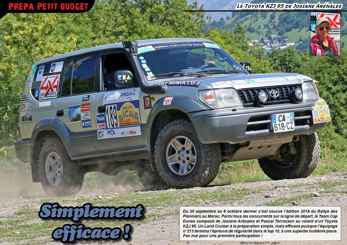 Le Toyota KZJ 95 de Josiane Arénales