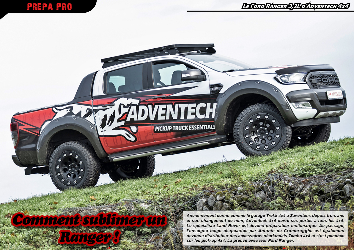 le Ford Ranger 3,2L d'Adventech 4x4