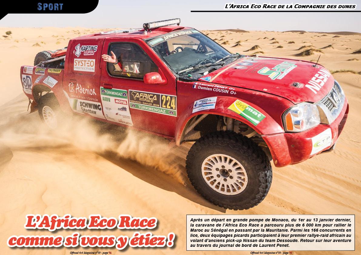 l'Africa Eco Race de la Compagnie des dunes
