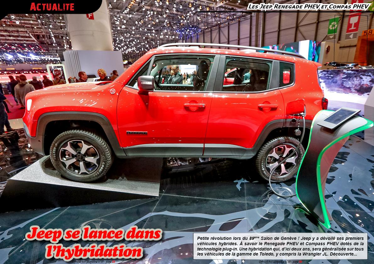 les Jeep Renegade PHEV et Compas PHEV