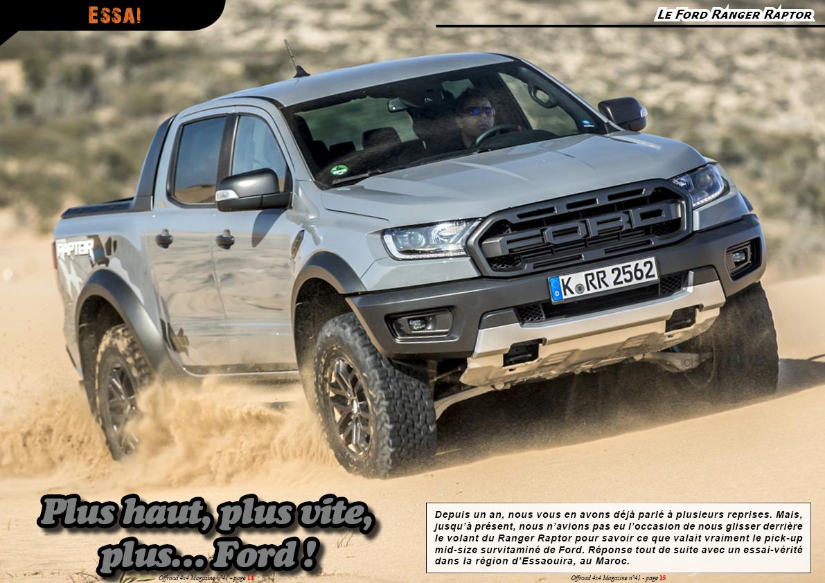 Essai du Ford Ranger Raptor